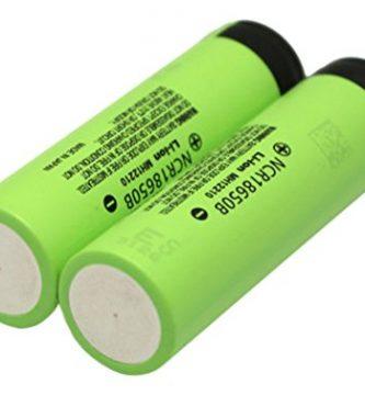 Panasonic NCR18650B - Pilas recargables (paquete de 2, 3400 mAh, Li-Ion) - Baterias 18650 - Pilas 18650