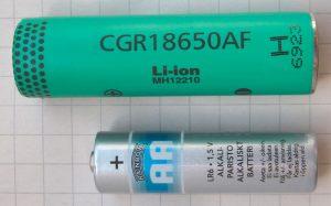 Diferencia entre Pilas recargables AA y Baterías 18650